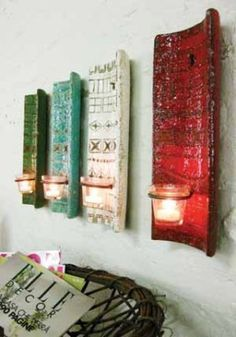 Art Ideas for Tile Roof | roof tile sconce candle holder perhaps another diy flip the roof tiles ...
