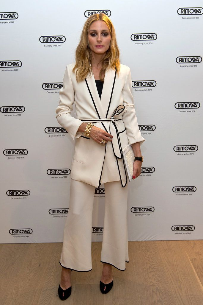 Olivia Palermo's white Zara suit is currently on sale.