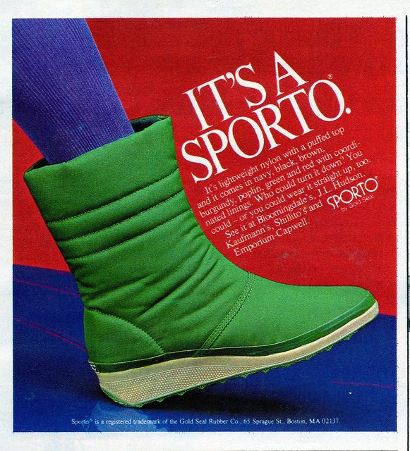 Sporto Boots, Seventeen Magazine, September 1982 by Look In The Tunk, via Flickr
