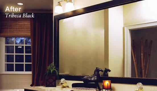 MirrorMate frames - Wood frames for bathroom mirrors