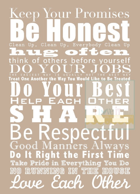 NEW SIZE 8x10 Beach House and Family Rules Manifesto by iloveitall, $26.00