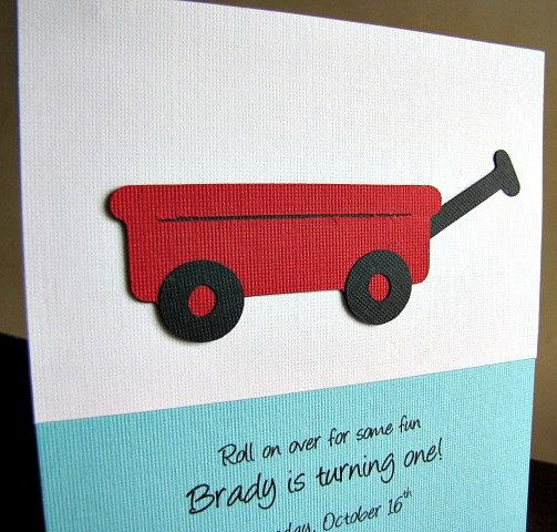 22 best images about Red Wagon Baby Shower – Red Wagon Birthday Invitations