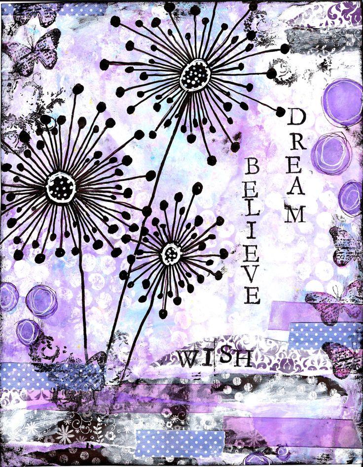 Rêve crois souhait Mixed Media Print par StudioP3 sur Etsy