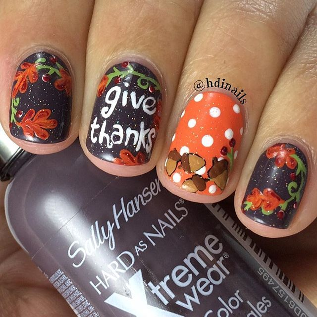 Enjoy our amazing collection of Thanksgiving nails designs for your fall  inspiration. Bring some creative touch into your fall manicure with our  ideas. - Best 25+ Thanksgiving Nail Designs Ideas On Pinterest