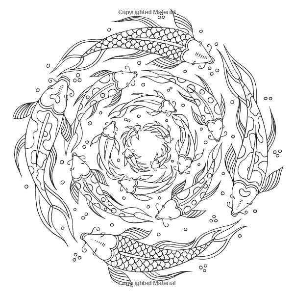 fish ocean underwater sea coloring pages colouring adult detailed advanced printable kleuren