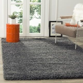 Safavieh California Cozy Plush Dark Grey Charcoal Shag Rug By Safavieh