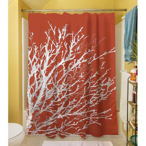 Thumbprintz Coastal Coral Shower Curtain