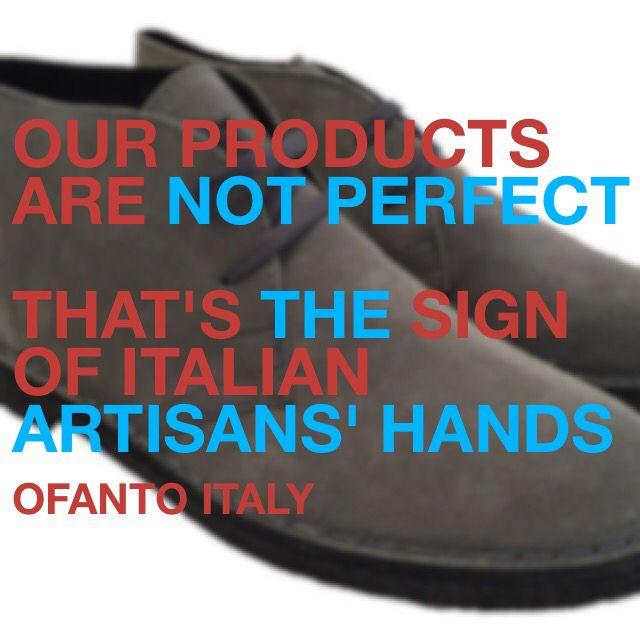 I nostri prodotti non sono perfetti ma questo è il segno della produzione artigianale Italiana.   #dapper #handmade #madeinitaly #ofantoitaly