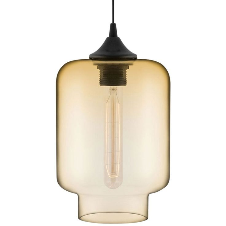 Edison Industrial Mercury Modern Pendant Light - Amber