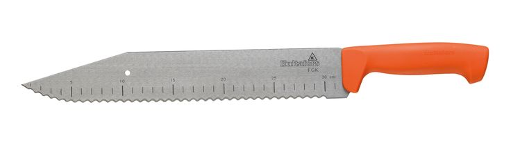 Hultafors Mineral Wool Insulation Knife with 50 mm wide, flexible blade with scale. With serrated blade for cutting all types of mineral wool.