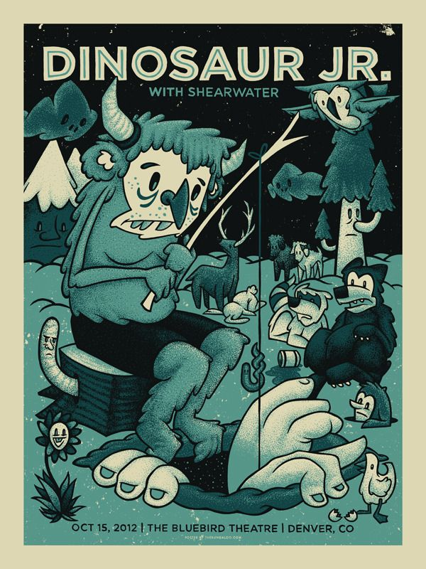 INSIDE THE ROCK POSTER FRAME BLOG: Dinosaur Jr, Eric Church Posters and more from John Vogl