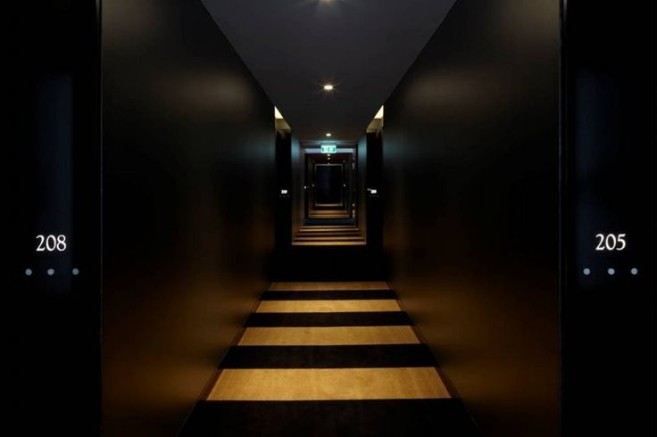via Modern Hotel Corridors Interior Design With Black