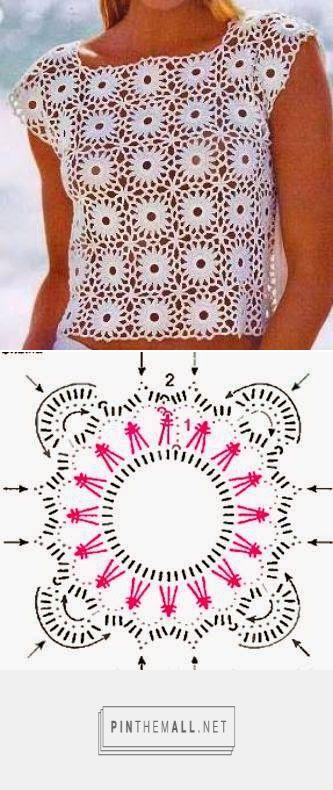 patrón crochet- blusa de verano