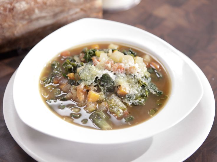 Vegetable Soup With Mixed Greens