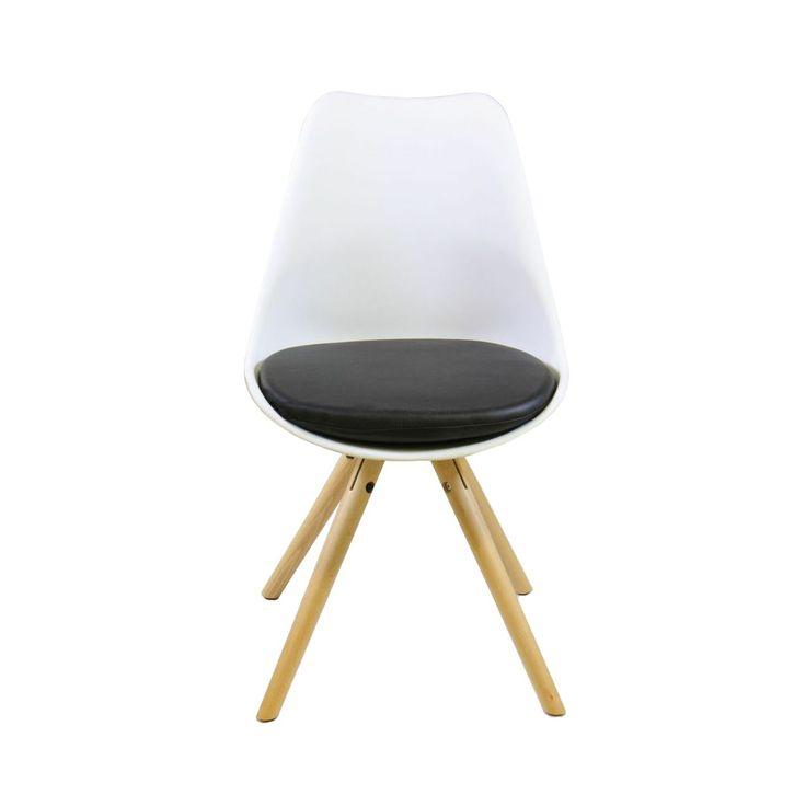 Retro Stol Vit/Svart/Ek :: Matbord och stolar, Matbord och stolar > Matstolar och Stolar, REA