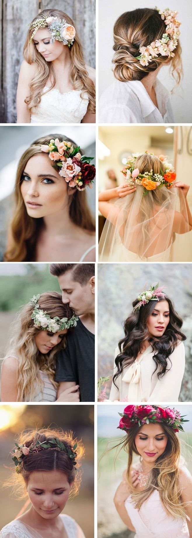 bloemen in haar bruid