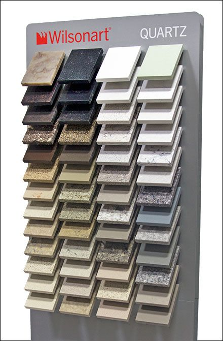 Tile and stone sampler displays are a specialized fixture class of their own. Here Frank Mayer provides an on-target Point-of-Purchase solution for quartz samples, courtesy of POPON.net online repo...