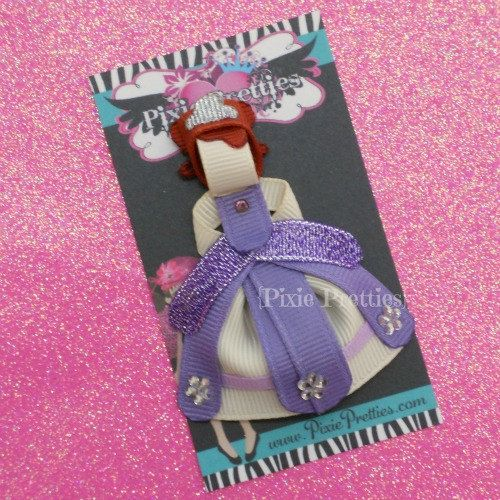 Sofia The First Ribbon Sculpture Clippie  An by PixiePretties, $10.00