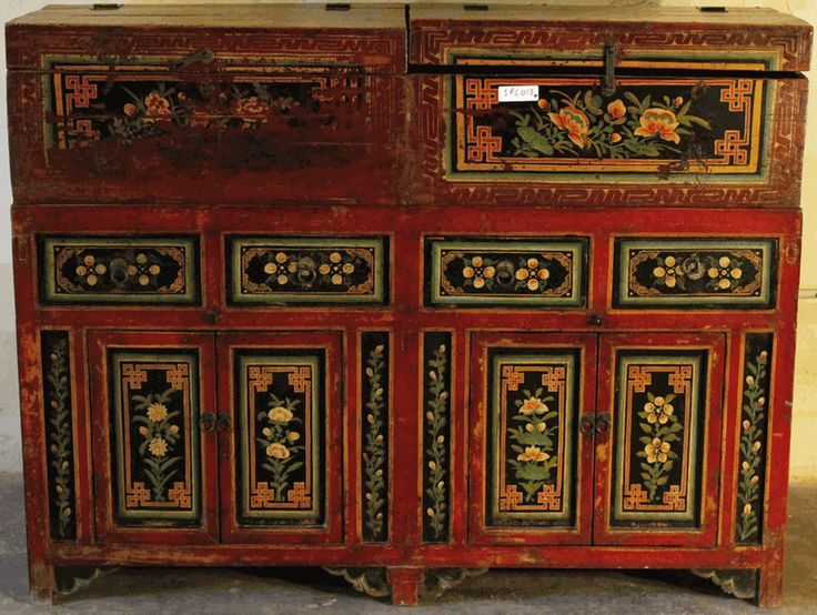 Antique Asian Furniture: Painted Buffet Cabinet from Mongolia - 53 Best Painted Oriental And Asian Furniture Images On Pinterest