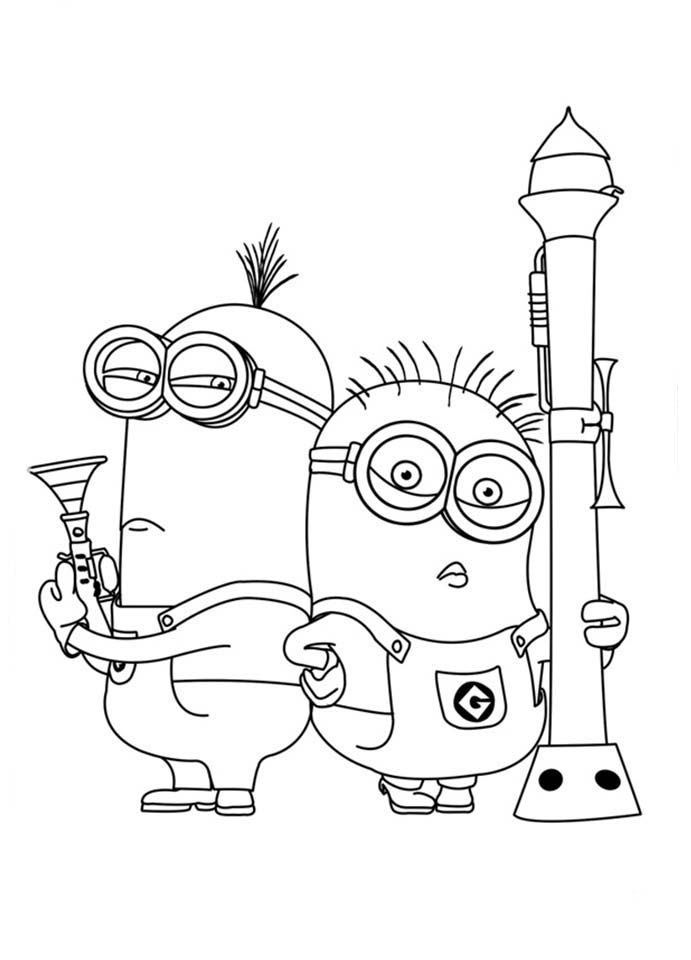 minions coloring page printable coloring pages
