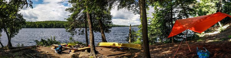 First campsite on a four-nighter last week on Burnt Island Lake in Algonquin Park ON! #camping #hiking #outdoors #tent #outdoor #caravan #campsite #travel #fishing #survival #marmot http://bit.ly/2usiGzX