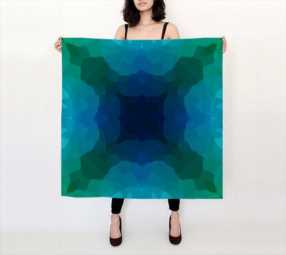 This DESIGNER SILK SCARF by Artist Shandra Smith is available in different sizes and fabrics. Its also lightweight, eco-friendly and washable. Etsy - https://www.etsy.com/ca/shop/ShandraSmithArt