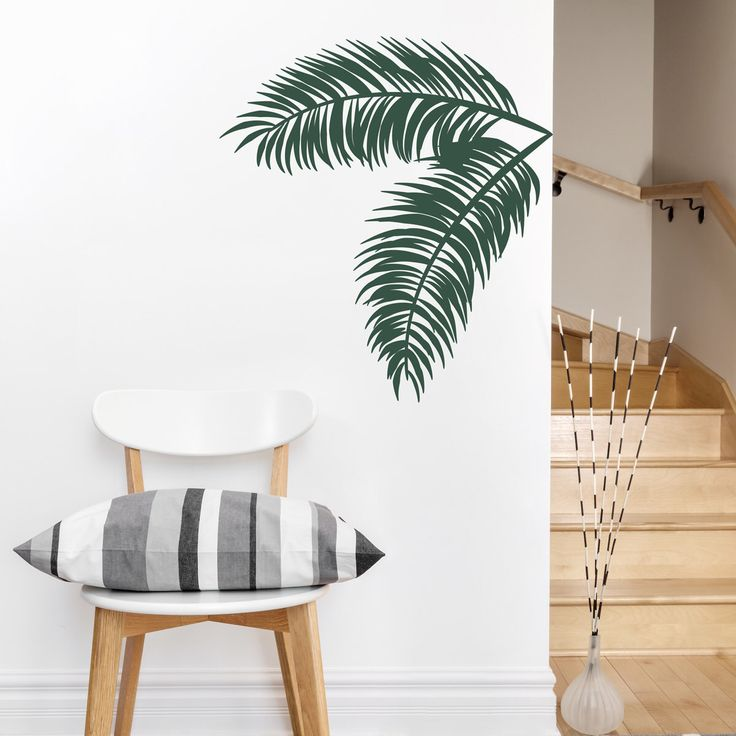 Palm Leaves Wall Decal -Tropical Wall Art, Palm Tree Decal, Hawaiian Decal, Palm Tree Wall Art, Nature Wall Decal, Palm Leaf Art, Leaf Decal by WallumsWallDecals on Etsy https://www.etsy.com/ca/listing/216150006/palm-leaves-wall-decal-tropical-wall-art