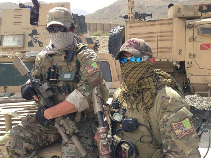 U.S Army Special Forces in Afghanistan equipped with some unique patches.