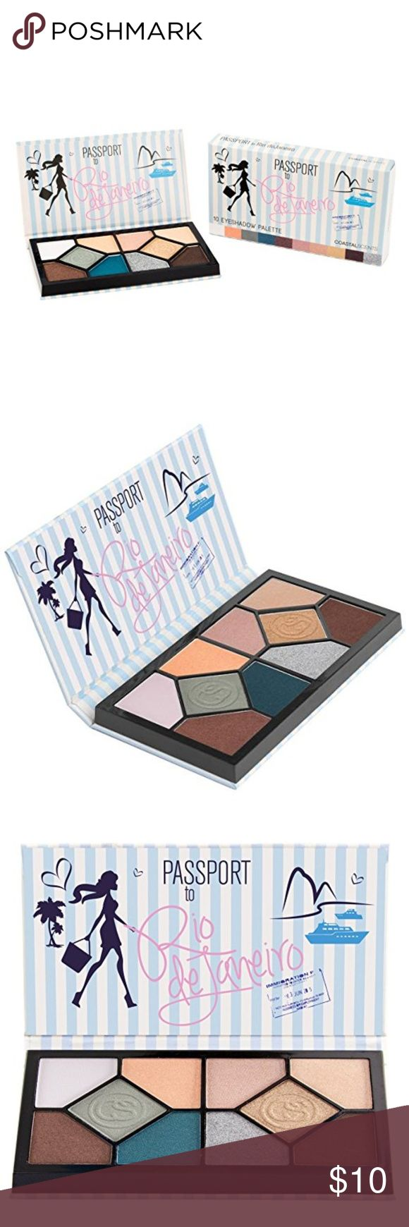 Coastal Scents Passport to Rio de Janeiro Palette Live it up and learn to samba during Carnival or relax on the shore among the surf and sun in this locale famous for fun.  10 customizable eyeshadow colors Convenient and portable palette Includes matte and shimmer Eyeshadows Coastal Scents Makeup Eyeshadow