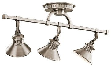 Kichler 3-Light Rail Light - Antique Pewter transitional-track-lighting