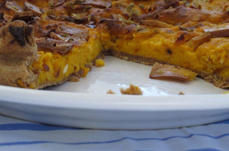 comer bem e ser feliz: tarte de abóbora e tofu fumado