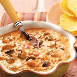 Hot Chili Cheese Dip Recipe from Taste of Home -- shared by Jeanie Carrigan of Madera, California