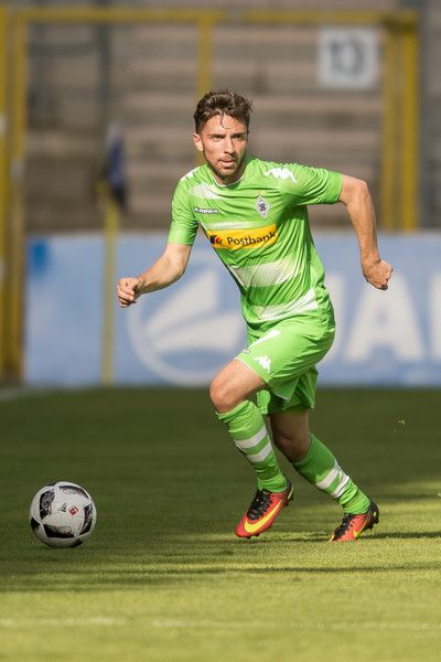 Julian Korb of Borussia Moenchengladbach during the friendly match between SV Waldhof Mannheim and Borussia Moenchengladbach at Carl-Benz Stadium on July 9, 2016 in Mannheim, Germany.