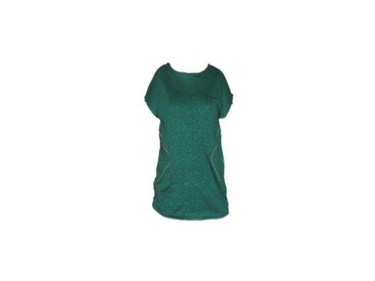 Kısakollu Yeşil Tişört