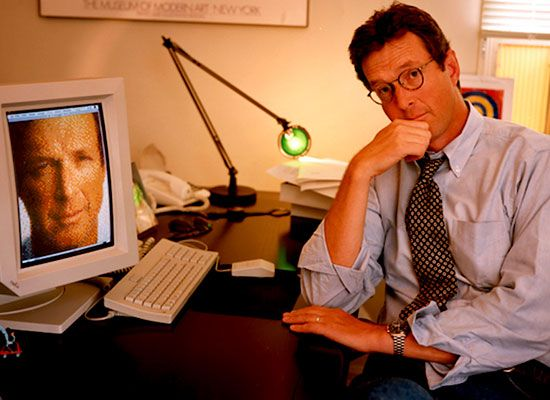 Michael Crichton, 1994. Photo by Annie Lebowitz.  Spotlight on Michael Crichton's Writing Career  The Andromeda Strain was the first book Crichton wrote under his own name and he has continued to dominate bestseller lists worldwide ever since. Michael Crichton's restless imagination and captivating narratives animate his work, making
