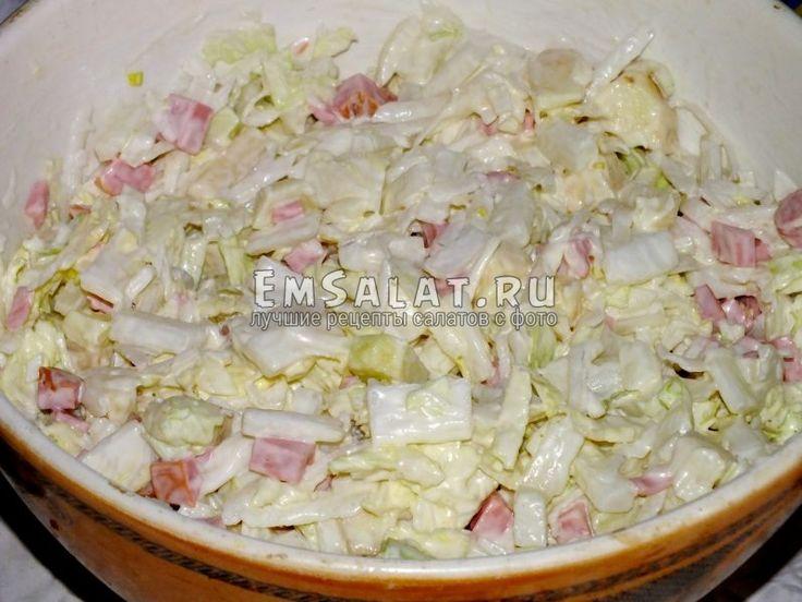 """""""Сочный"""" салат из пекинской капусты. - http://emsalat.ru/salad_veget/sochnyiy-salat-iz-pekinskoy-kapustyi.html"""