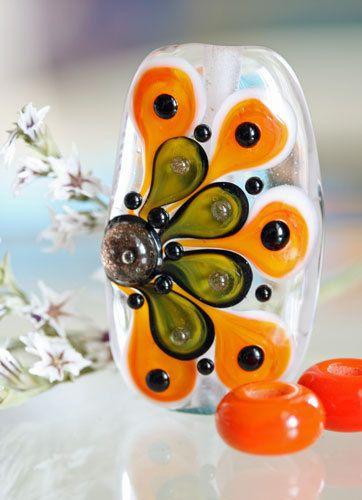 handmade glass lampwork focal bead set firebug beads sra