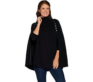 G.I.L.I. Sweater Cape with Button Details
