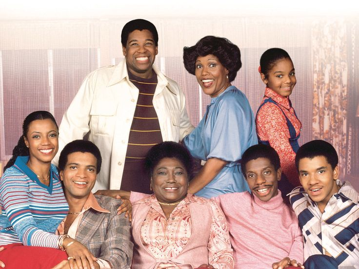 Good Times (TV show) Johnny Brown, Ja'net DuBois and Janet Jackson (top row, from left); BernNadette Stanis, Ben Powers, Esther Rolle, Jimmie Walker and Ralph Carter (bottom row, from left)