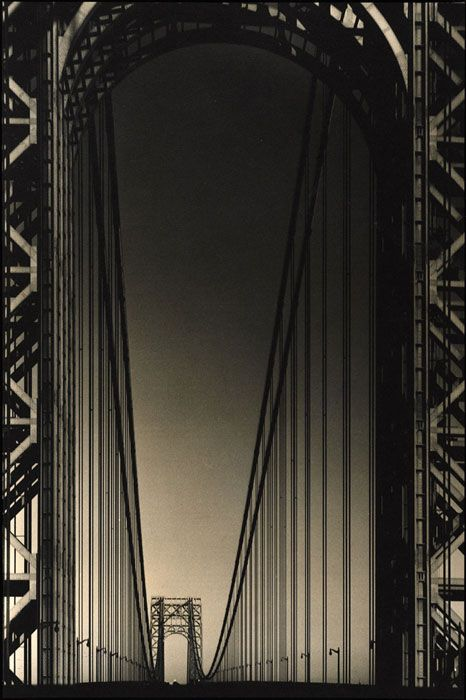 Margaret Bourke-White. George Washington Bridge, ca. 1934. 1934 Art and Industry Exhibition
