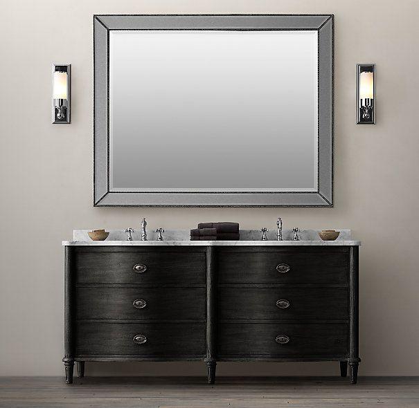 Contemporary Art Websites Empire Rosette Double Vanity Sink