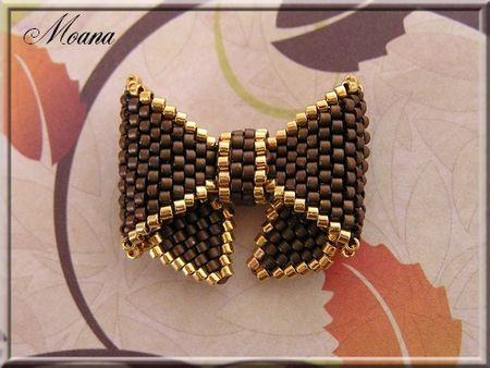 beaded bow - Бантик маленький французский