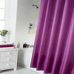 29 best pop of color vibrant table top images on pinterest for Plain pink shower curtain