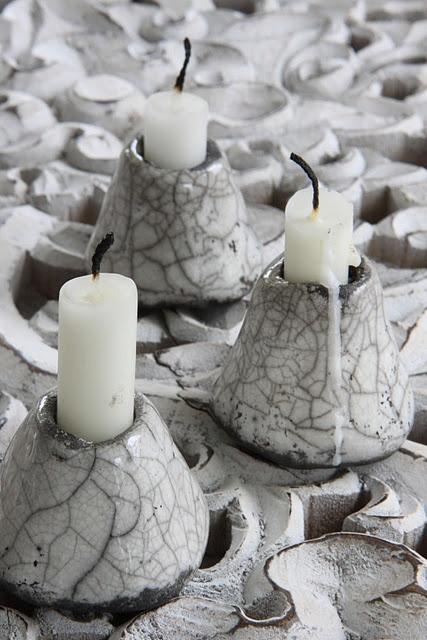 raku fired candle sticks