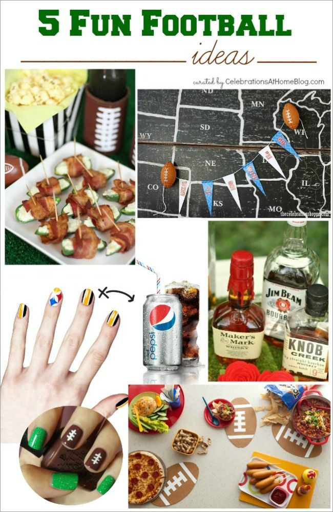 5 FUN FOOTBALL PARTY IDEAS #football #superbowl #tailgateFootball Superbowl, Football League, Ideas Football, Footballl Superbowl, Fantasy Football, Fun Football, Football Parties, Parties Ideas, Party Ideas
