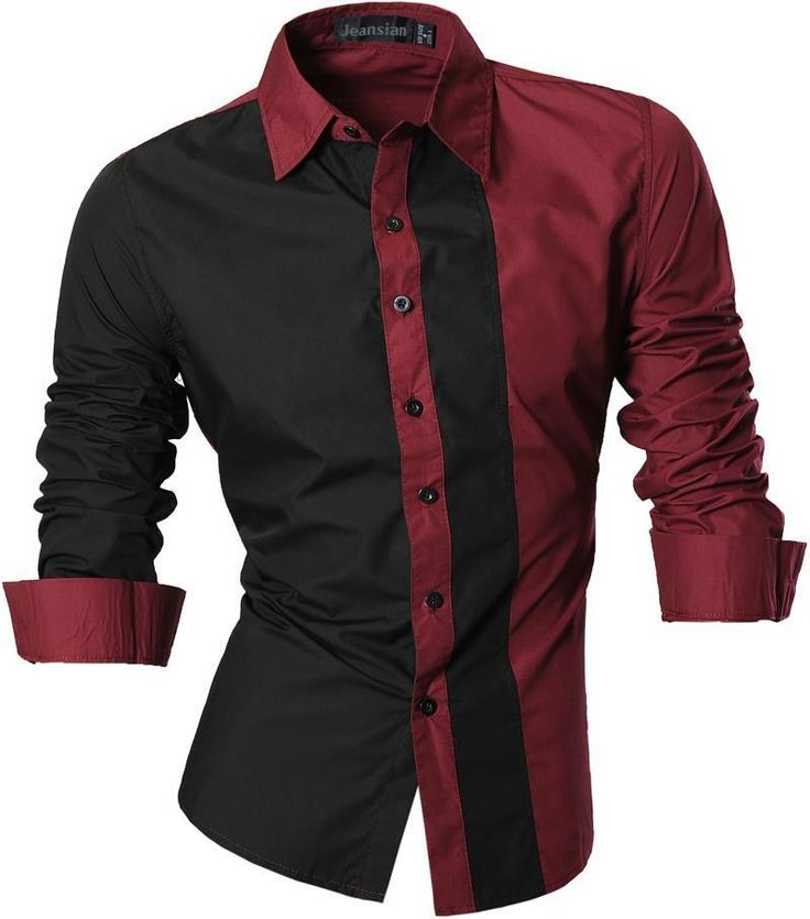 Jeansian Mens Shirts Dress Casual Slim Fit Fashion Tops 4 Colors 5 Sizes Z017 #Jeansian #Western