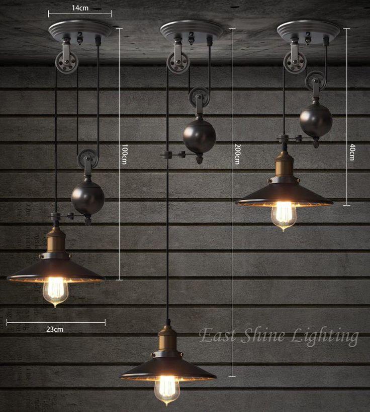 Pulley Adjustable Pendant Ceiling Light 3