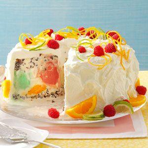 Sherbet Cream Cake from Taste of Home