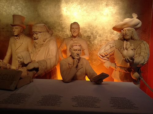 Giant statues made of marzipan at Niederegger Marzipan in Lubeck Germany - beats a wax museum!