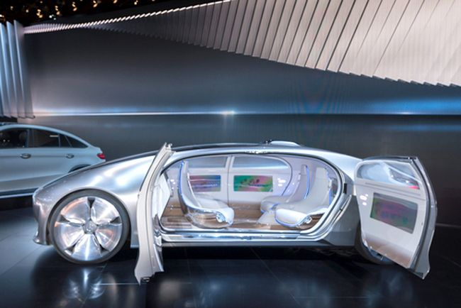 The Mercedes-Benz F015 Luxury in Motion is a concept car that debuted at this year's North American International Auto Show and is both electric and autonomous. Steve Lagreca / Shutterstock.com